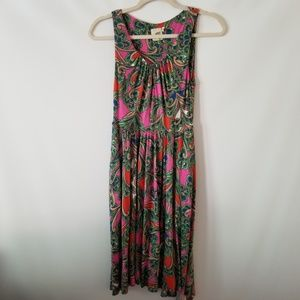 Anthropologie Lilka Multicolor Sleeveless Dress XS